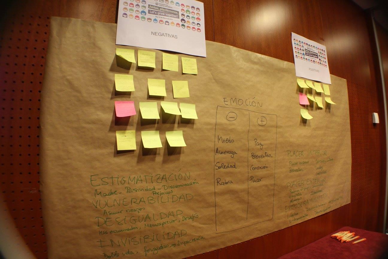 Una de las actividades durante el I Encuentro en Barcelona